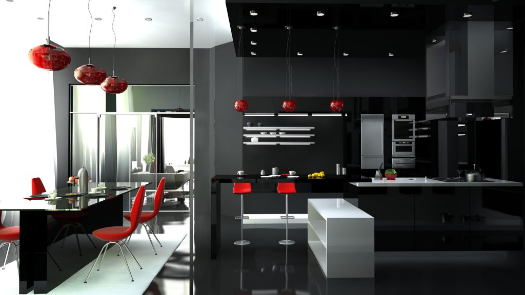 черно-касная кухня