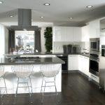 Современный дизайн кухни в хрущёвке в стиле хай-тек