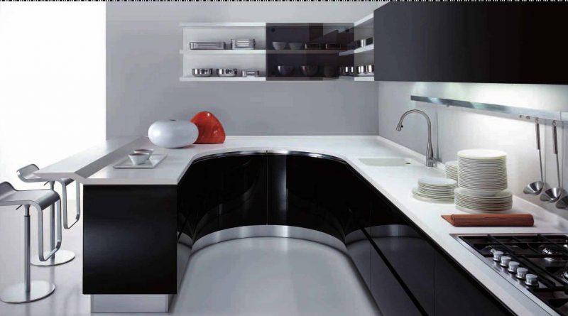 черно-белая мебель