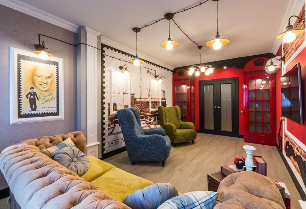 Лондонский стиль для оформления гостиной