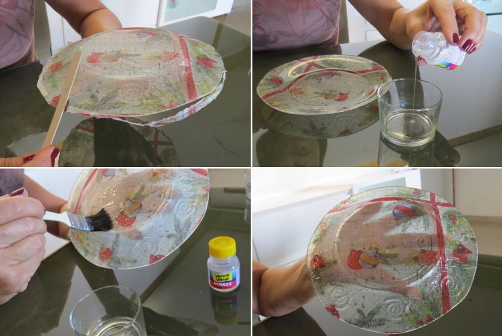 Декупаж тарелки