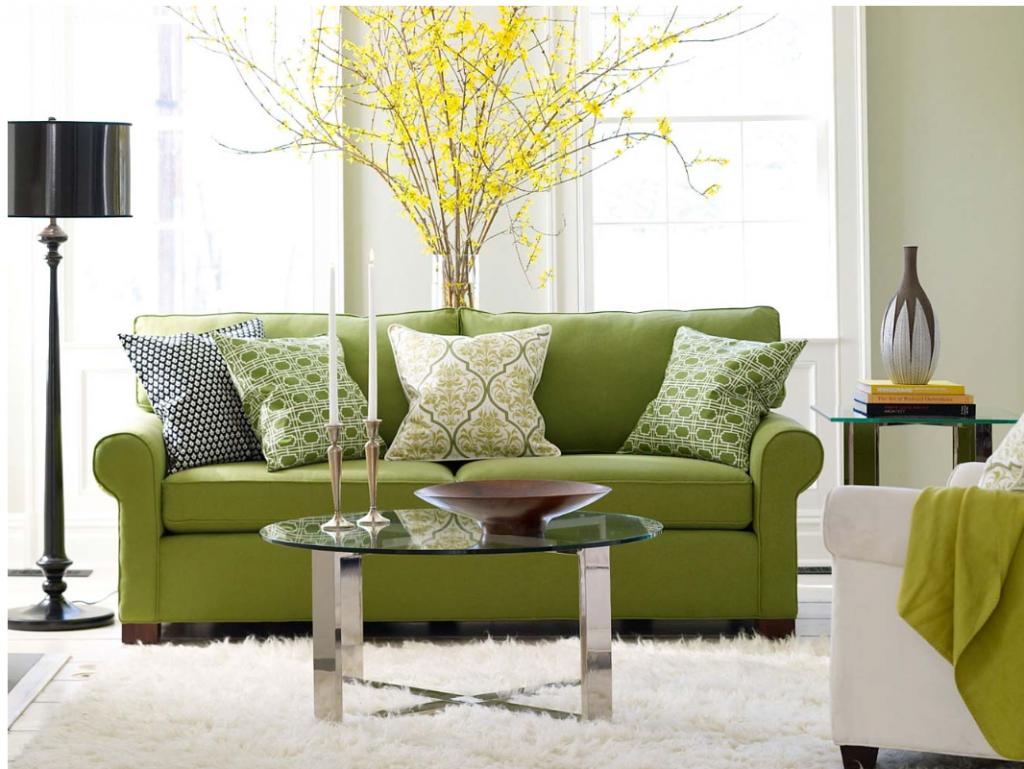 Дизайн мебели в фисташковом цвете
