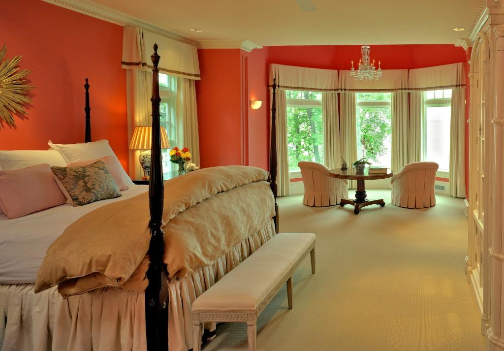 Комфортный дизайн в персиковых оттенках