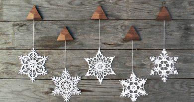 Самодельные снежинки в декоре квартиры: как использовать чтобы было стильно?