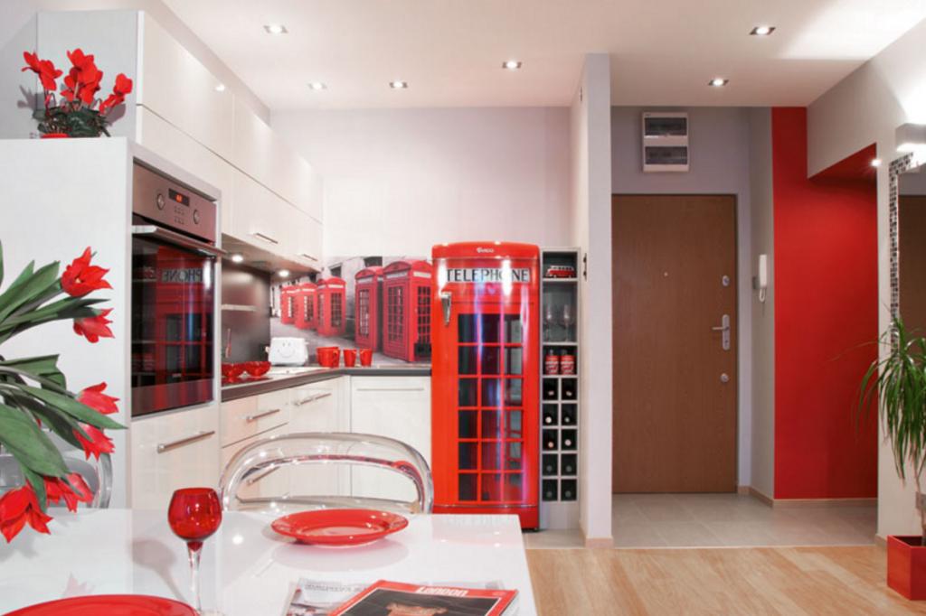 Идея оформления кухни в стиле Лондон