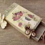 Декупаж старой шкатулки в трех разных стилях