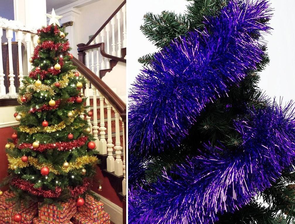 Украшение новогодней елки по спирали