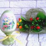 Техника декупажа пасхальных яиц: работа с яичным белком
