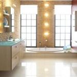 Дизайн ванной комнаты, зеркала
