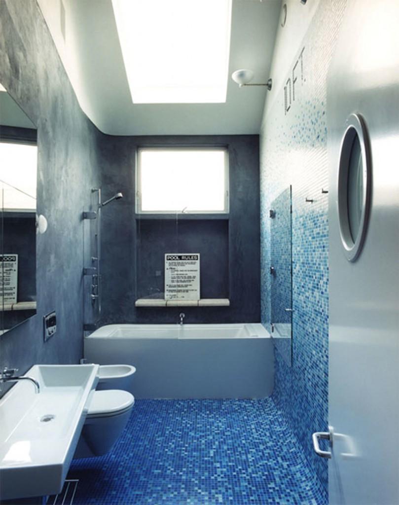 дизайн ванной комнаты маленького размера с мозаикой