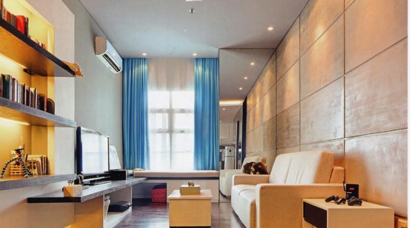 Дизайн интерьера в квартире студии