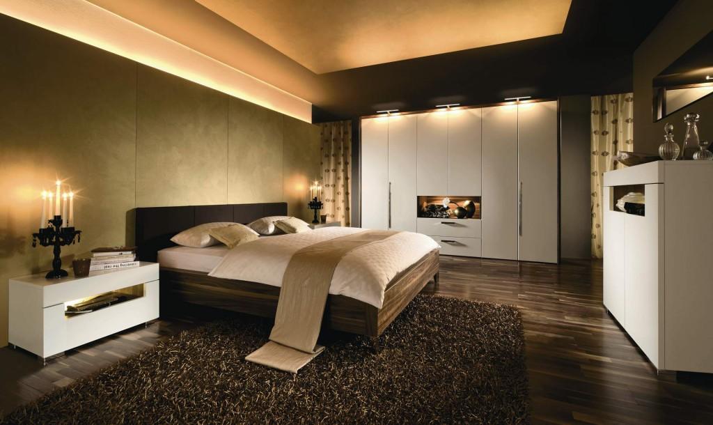 дизайн потолка в спальне