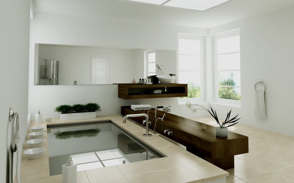 Фото дизайна керамической плитки в ванной