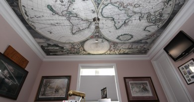 Натяжной потолок в кабинете