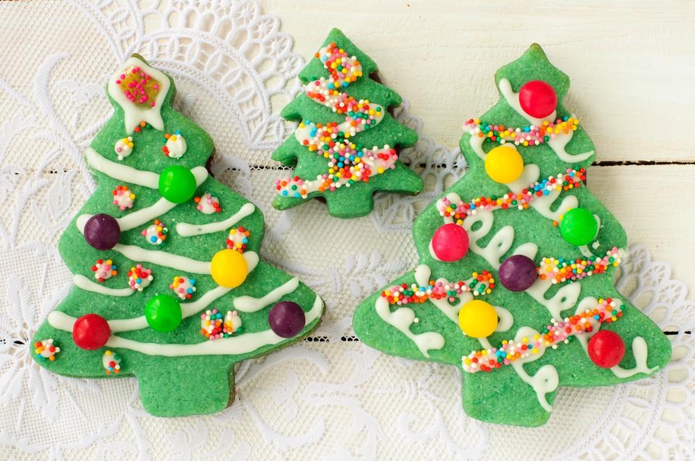 Новогоднее печенье елочка