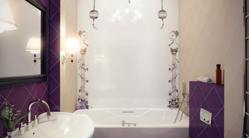 дизайн освещения в ванной маленького размера