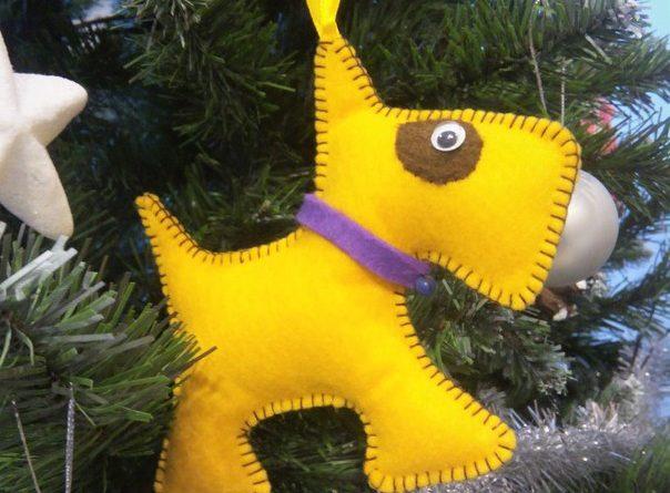 Игрушка собачка на елку своими руками
