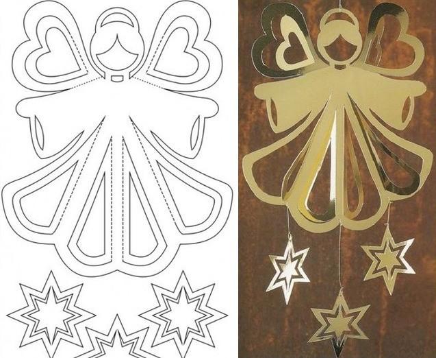 Ангелочек из бумаги шаблон
