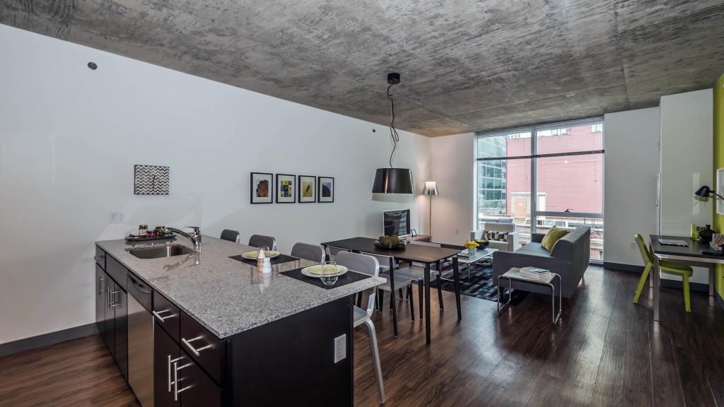 Дизайн квартиры студии в промышленном стиле