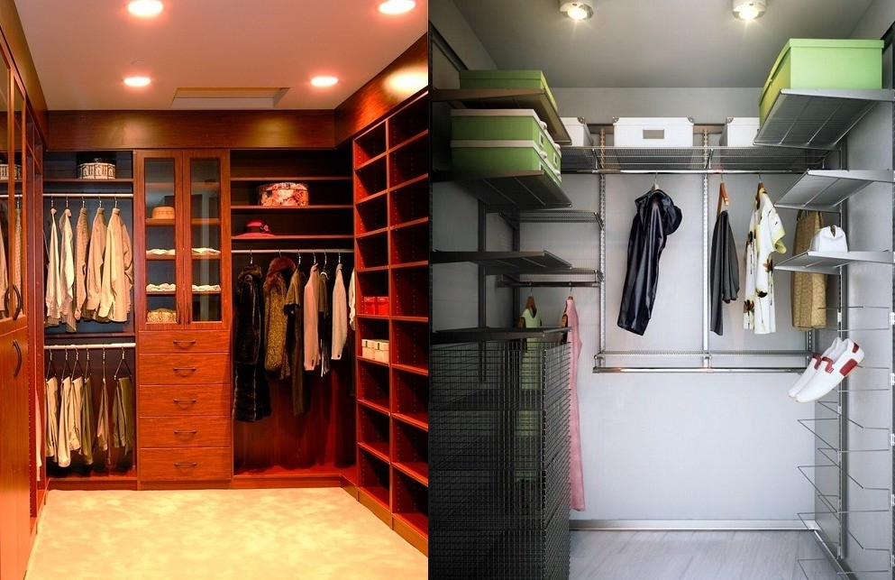 освещение в маленькой гардеробной