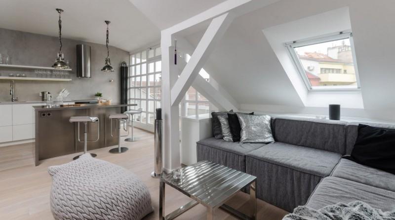 Дизайн квартиры студии на чердаке