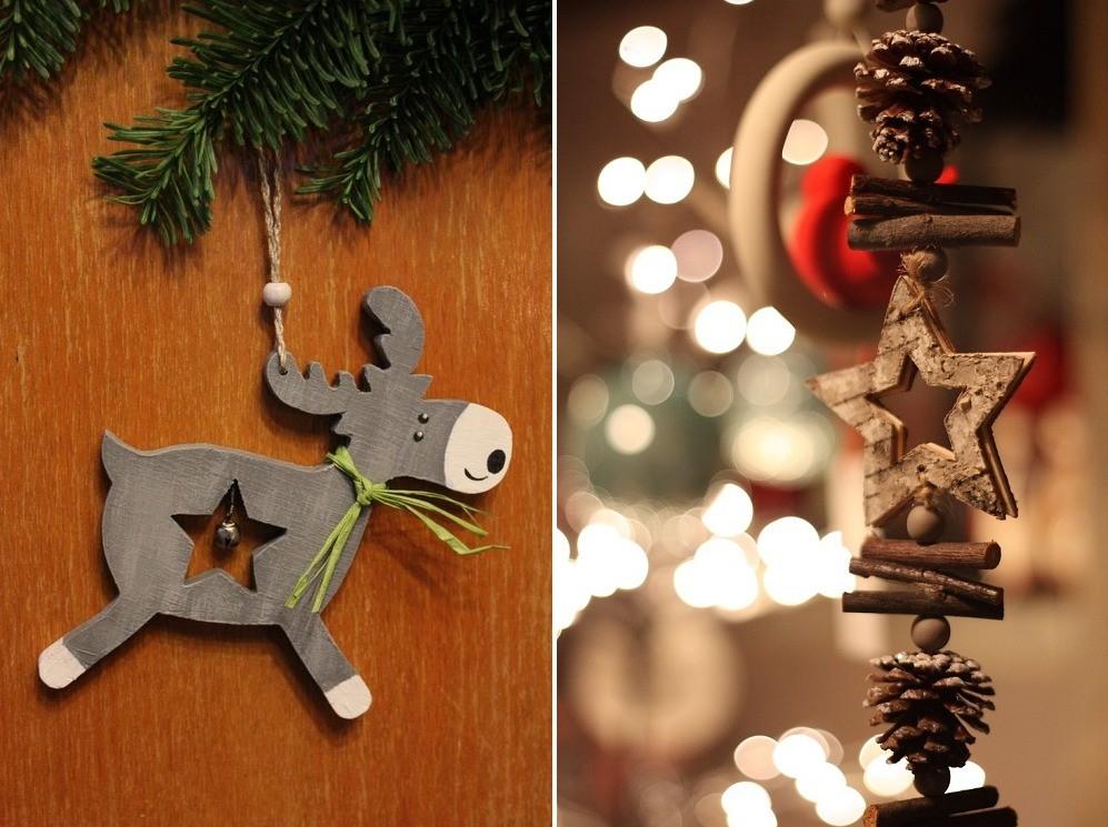 Новогодние украшения на двери своими руками