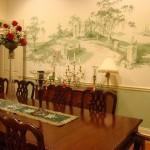 Современные фрески в интерьере столовой