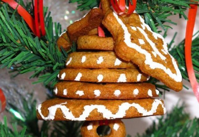 Печенье колокольчики на елку