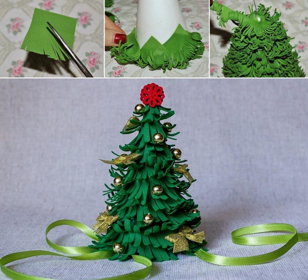Новогодняя елка из фома своими руками