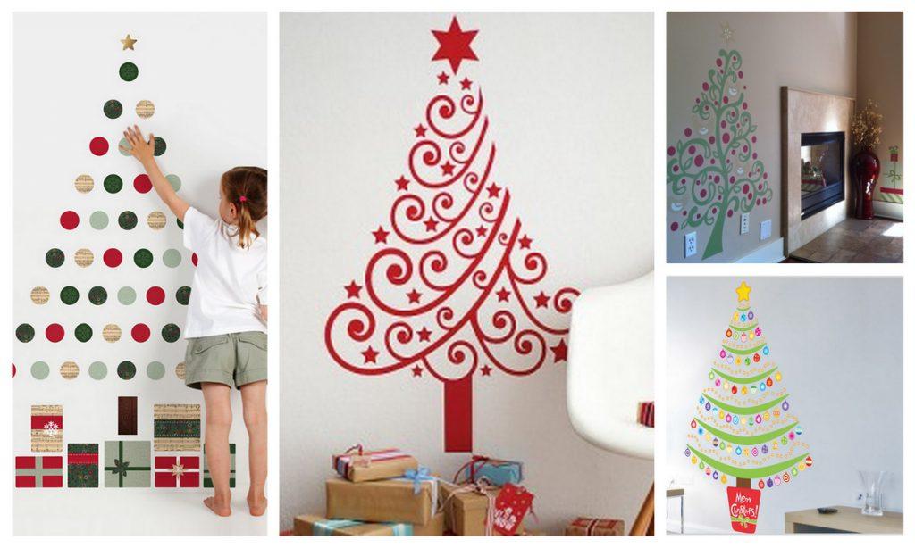 Новогодний декор стен в детской