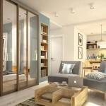 Свободный дизайн квартиры студии