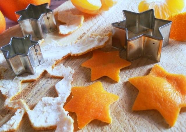 Звёздочки из апельсиновых корок