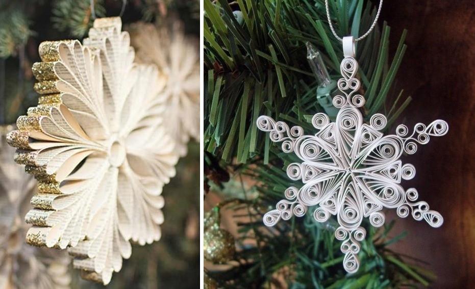 Новогодние снежинки из бумаги на елку