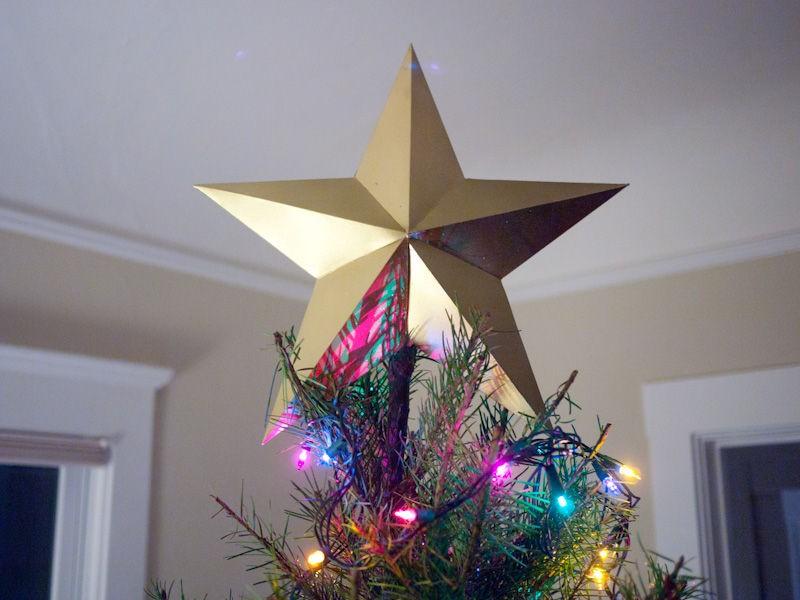 Золотая звезда на елку