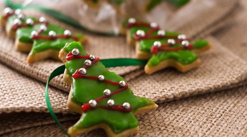 Печенье с глазурью елочка