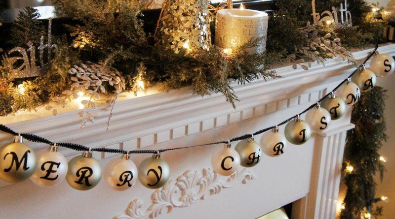 Как красиво украсить камин к Новому году