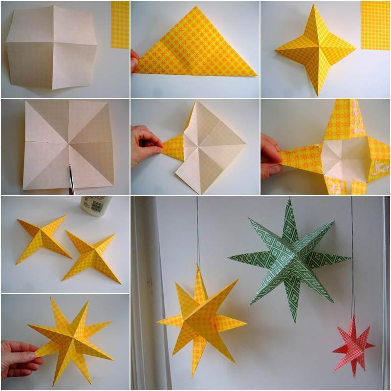 3D-звездочка из бумаги к Новому году