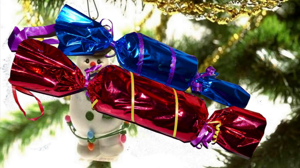 Украшения на елку из конфет