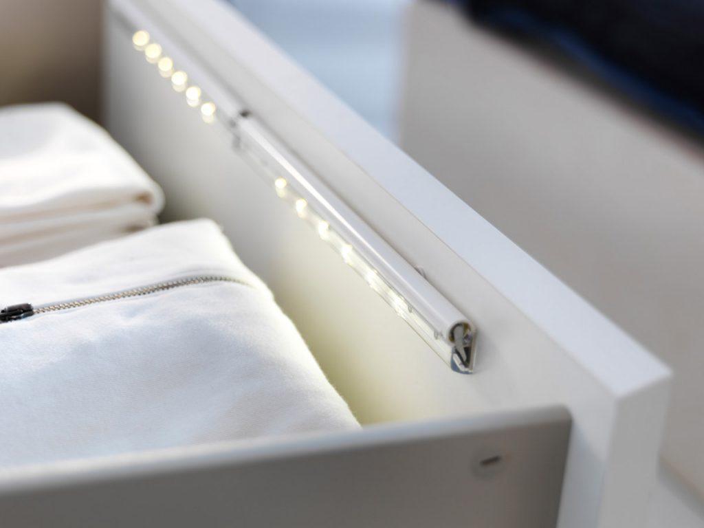 Внутренняя подсветка бельевых ящиков
