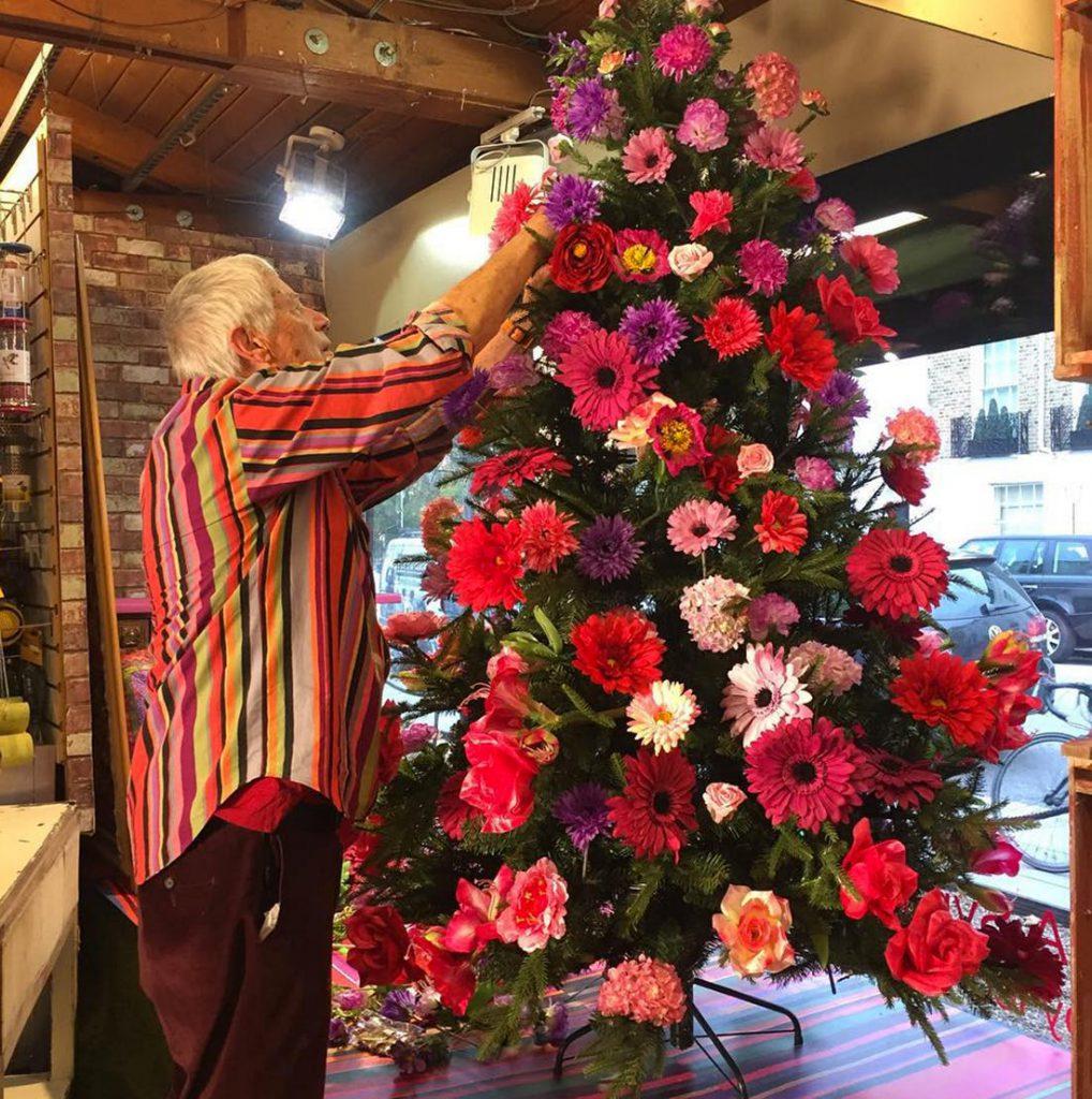 Цветочная новогодняя елка