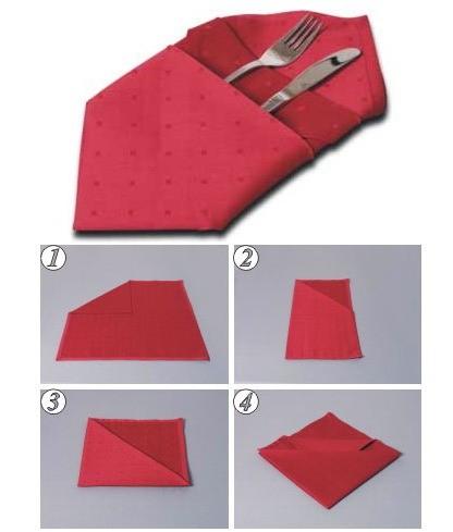 Мешочек из салфетки для приборов своими руками