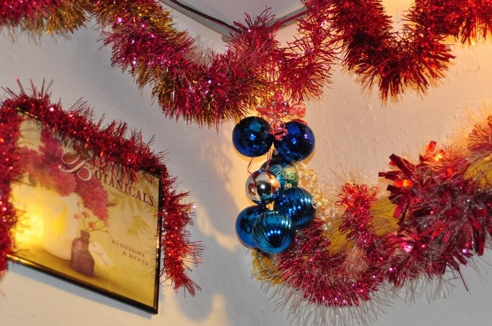 Украшение потолка к Новому году
