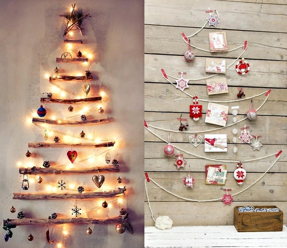 Декоративная елка на стену своими руками