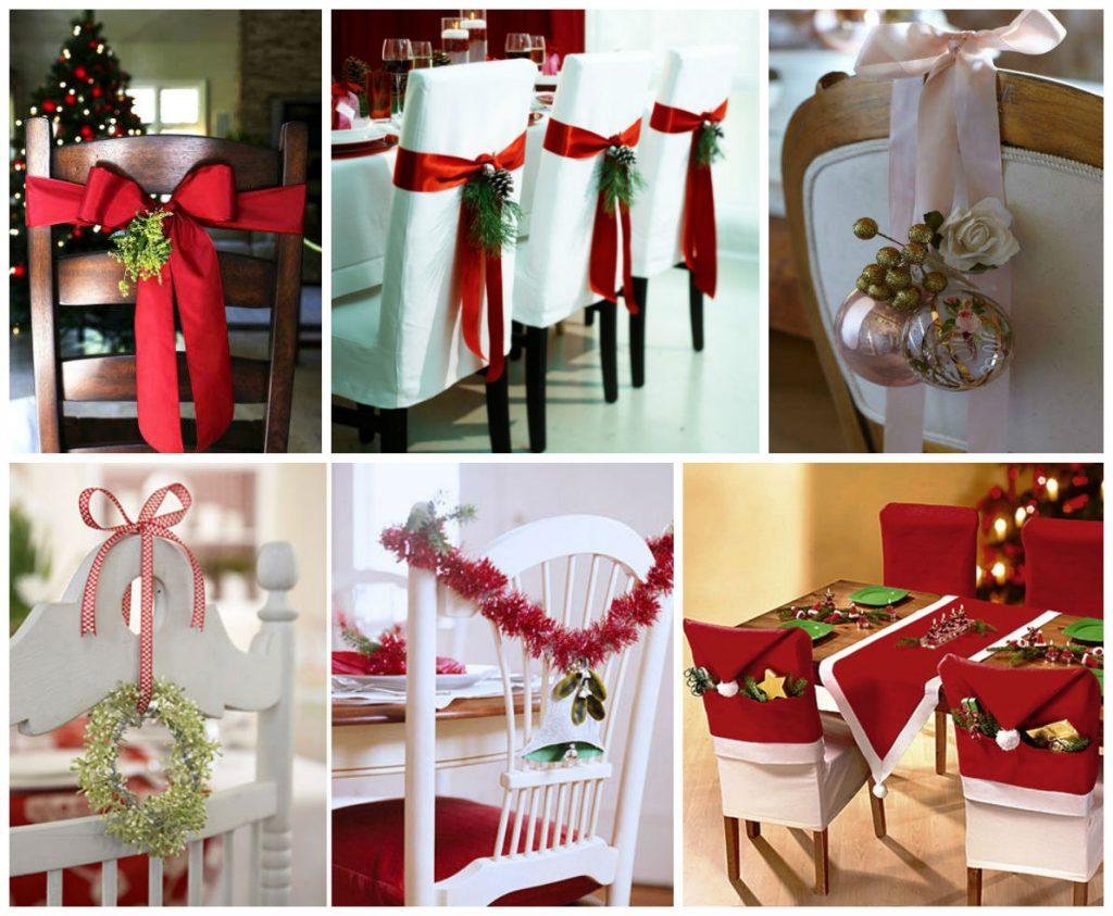 Идеи украшения стульев к Новому году