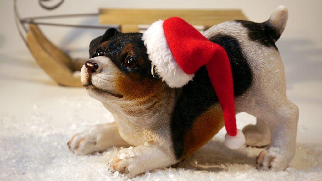 Новогодняя фигурка собака на новый год