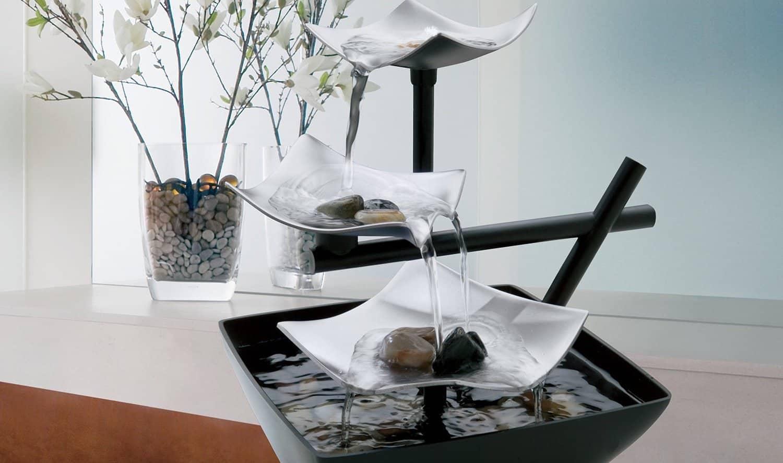 Комнатный фонтан: плюсы и минусы