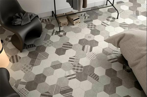 Комната в многоугольной плитке: интересные решения [ с фото]