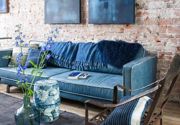 [Творчество дома] Декор интерьера из старых джинсов