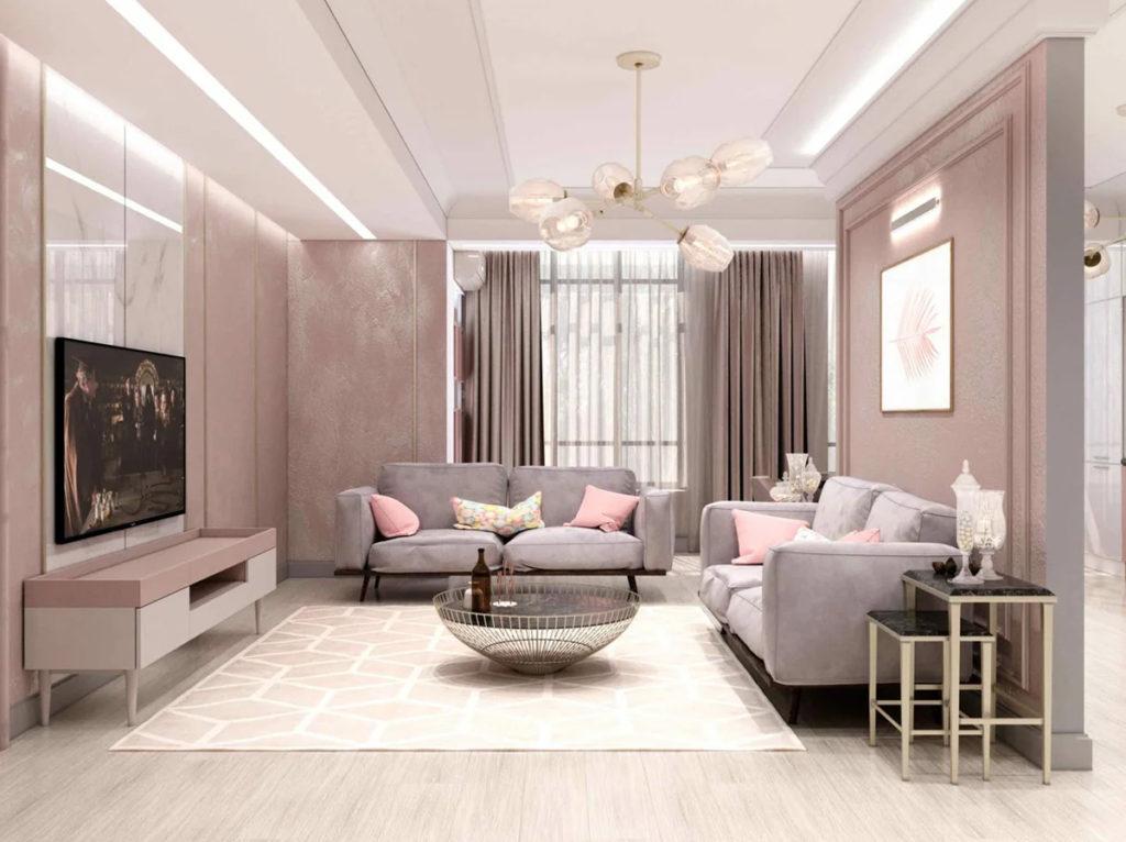 Серый и розовый в интерьере: стильное решение