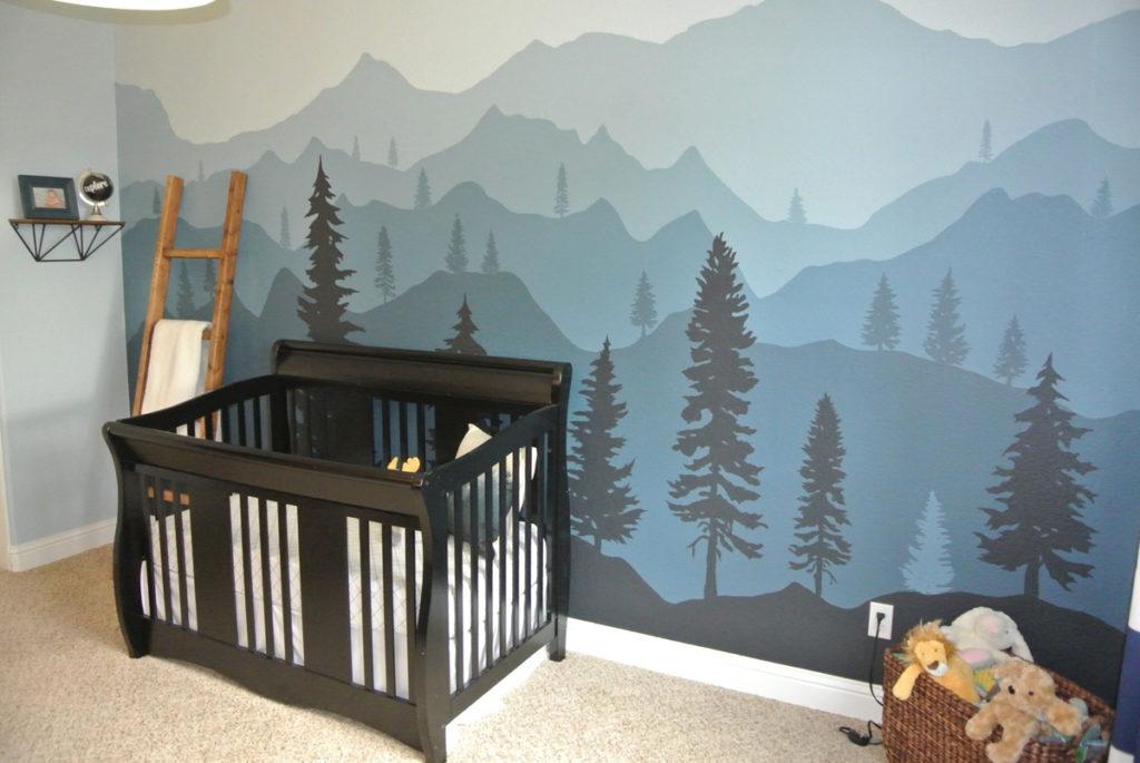Горы на стенах в детской: тренд или безвкусица?